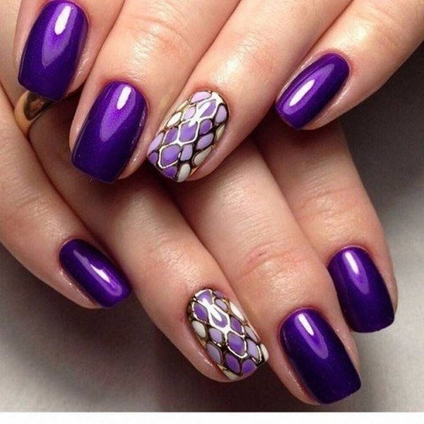 дизайн ногтей сиреневый цвет фото 7