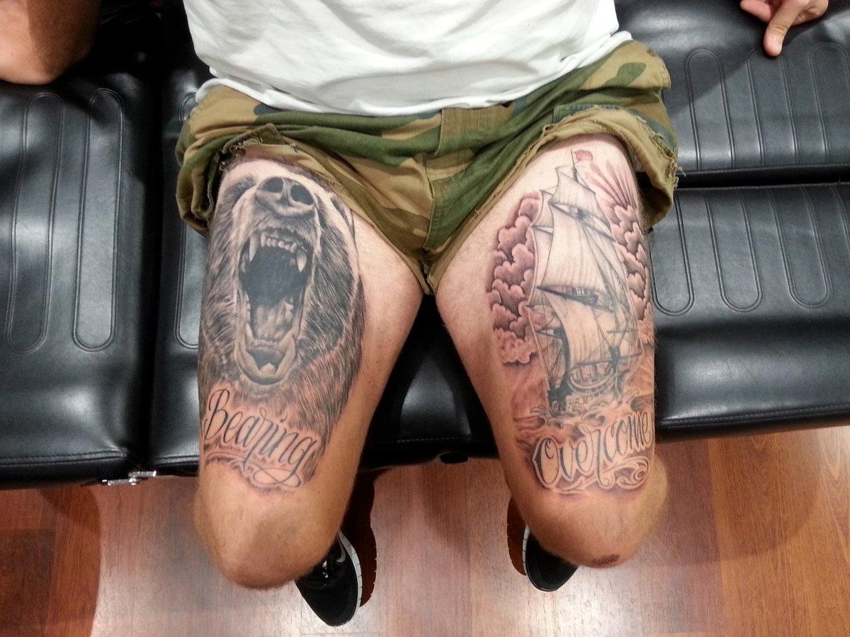 фото татуировки на ногвх ценой