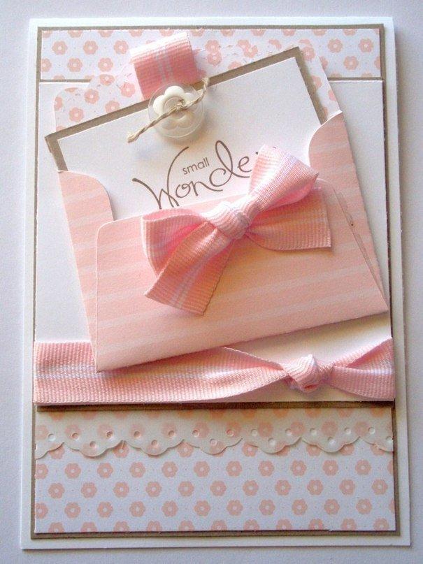 Конверт для открытки своими руками для девочки