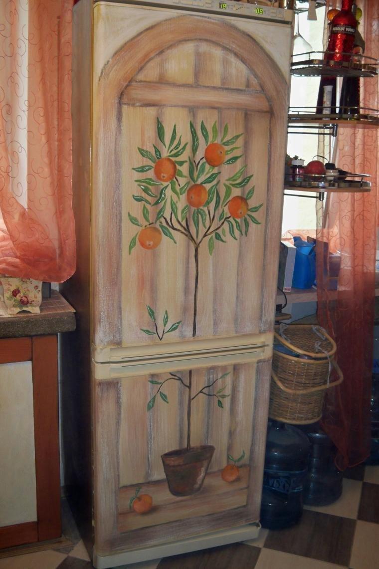Картинки декупаж холодильники