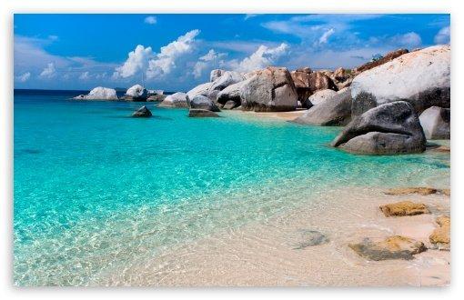 Summer Beach Scene HD wallpaper for Wide 16:10 5:3 Widescreen WUXGA WXGA