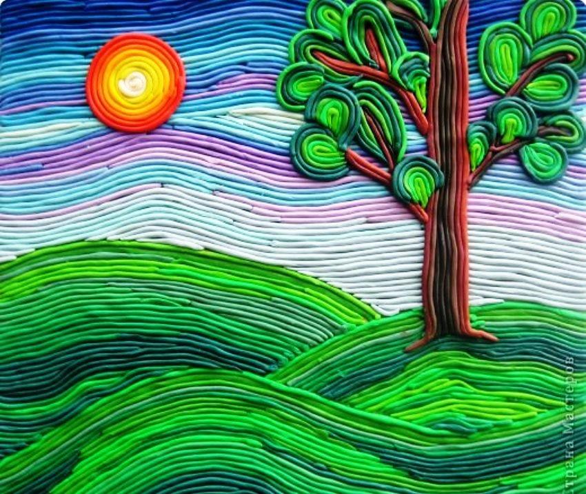 Пластилиновая живопись из шприца картинки