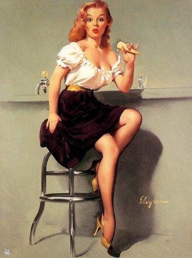 Рисованные секси герл художников иллюстрации