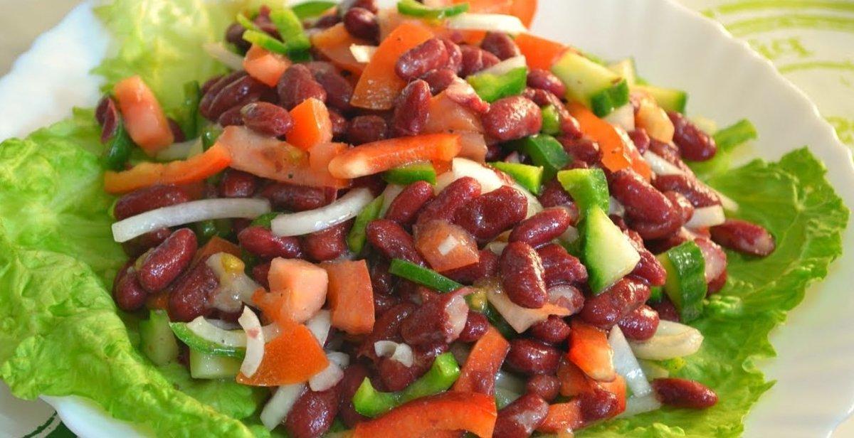 фото вареной фасоли из рецепт салатов