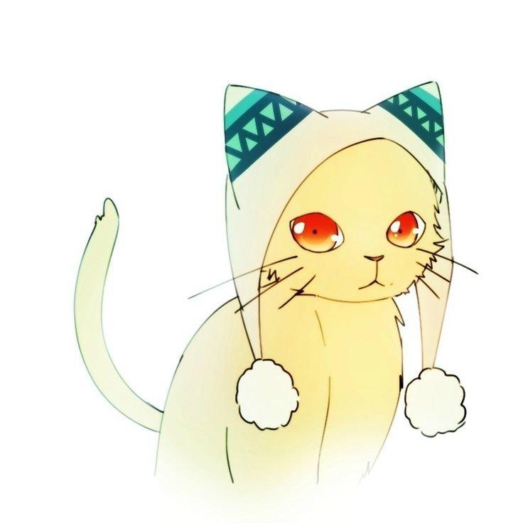 Картинки кошек в стиле аниме