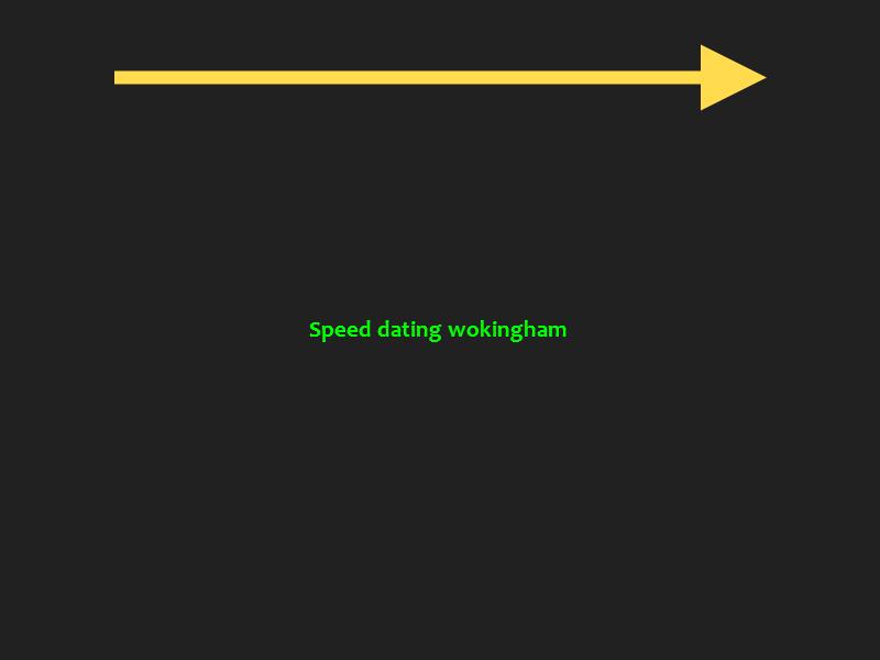 speed dating wokingham