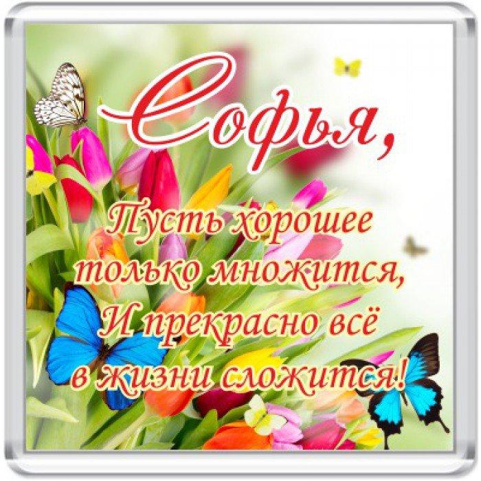 Поздравления с днем рождения именные софия