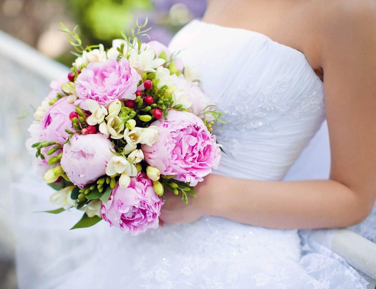 Цветов, свадебный букет с пионами в москве