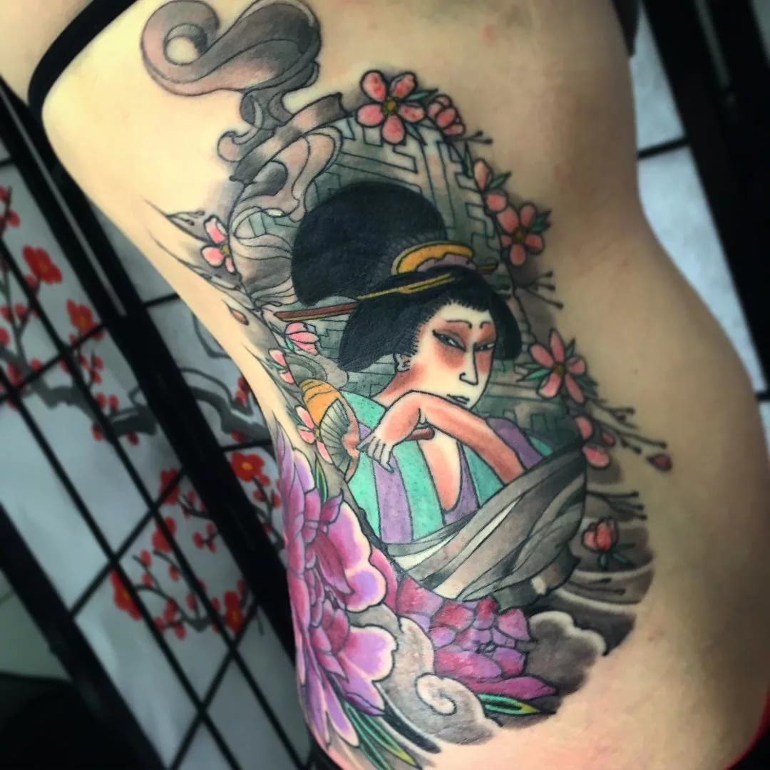 70 Colorful Japanese Geisha Tattoos Meanings And Designs Card