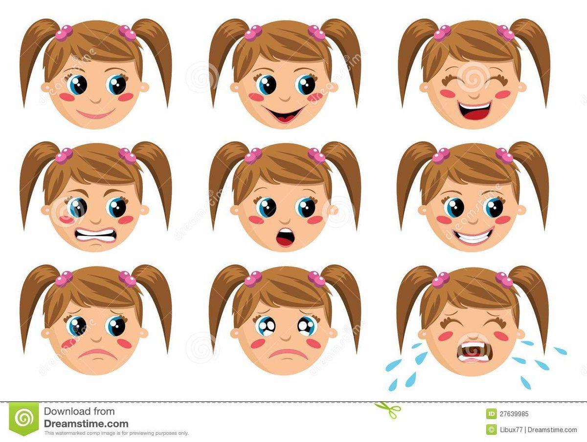 Лица с эмоциями для детского сада картинки