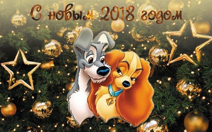 Картинках, открытки с новым годом собака