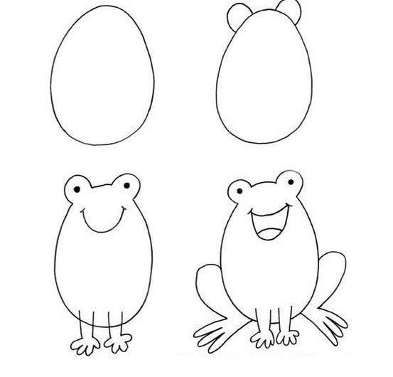 Поздравляю ты только что нарисовал жабу поэтапно для начинающих.