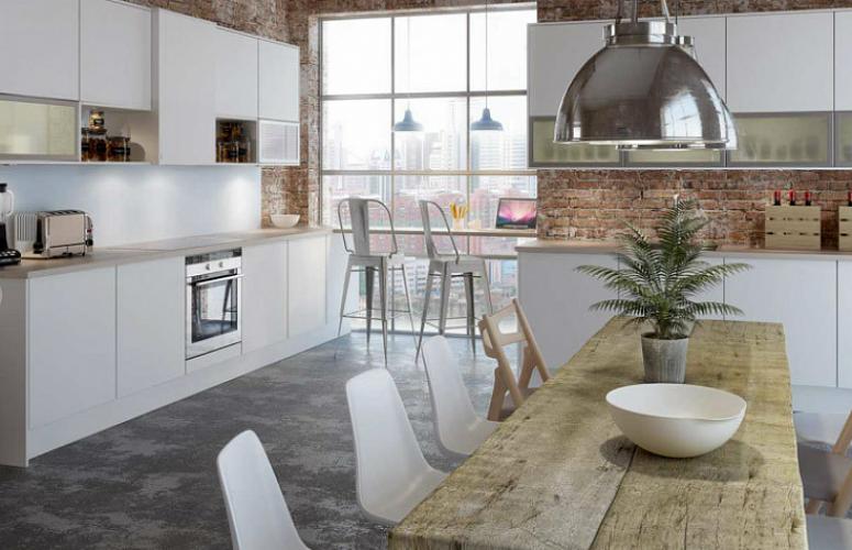 белая кухня в стиле лофт 15 кв карточка пользователя Victor
