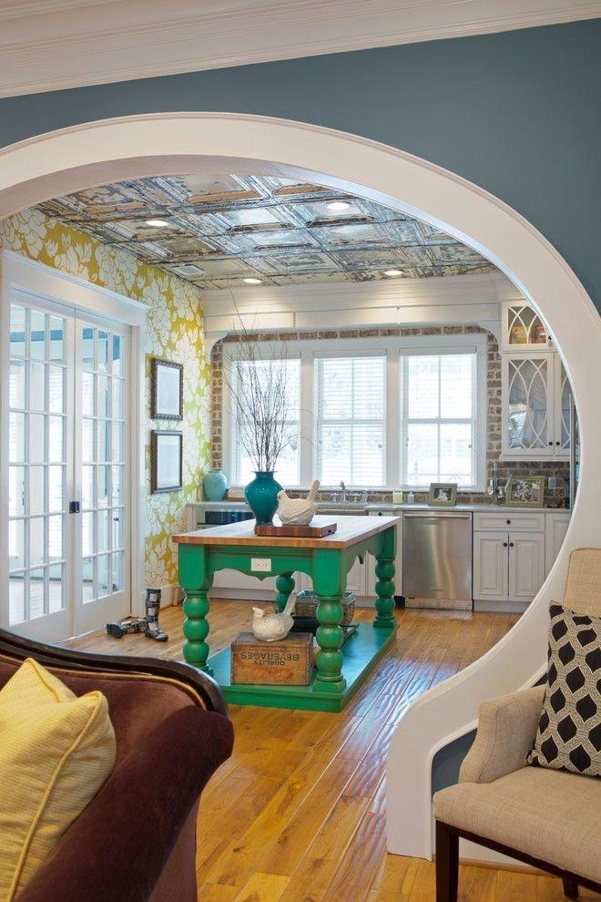 Арка из гипсокартона на кухне вместо двери
