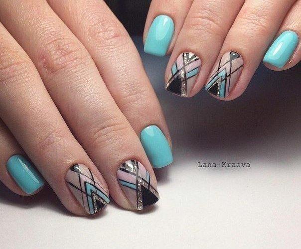 Геометрический маникюр - фото идей дизайна ногтей - Best 89