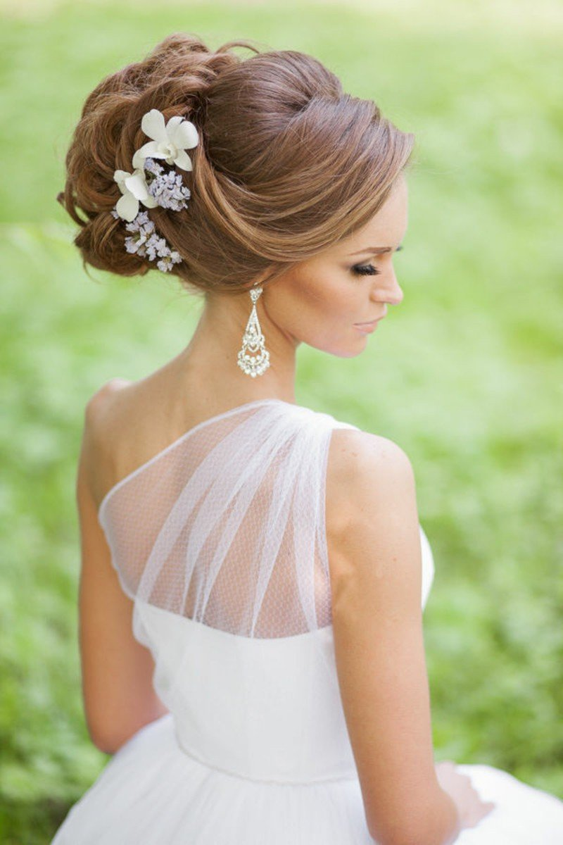 "wedding hairstyles long hair wedding hair bun updo"" — card from user"