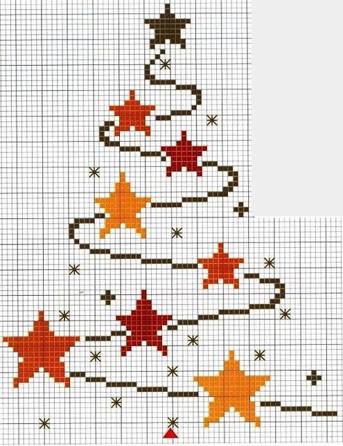 Схема вышивки новогодней елки фото 906