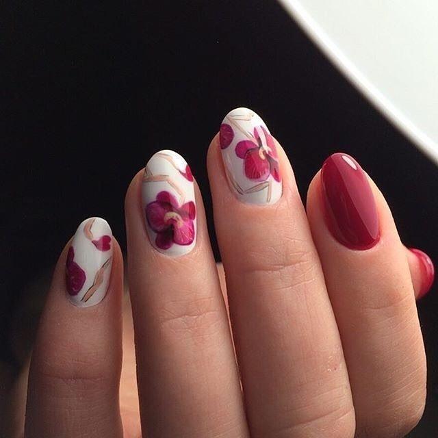 фиалки рисунок на ногти фото орхидея париков была так