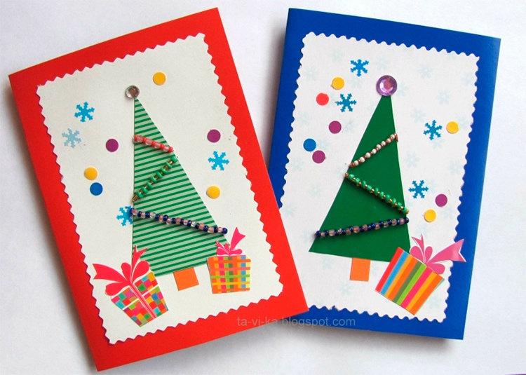 Новогодние открытки легкие и быстрые