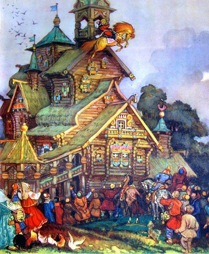 Знаете, старорусские картинки из сказок
