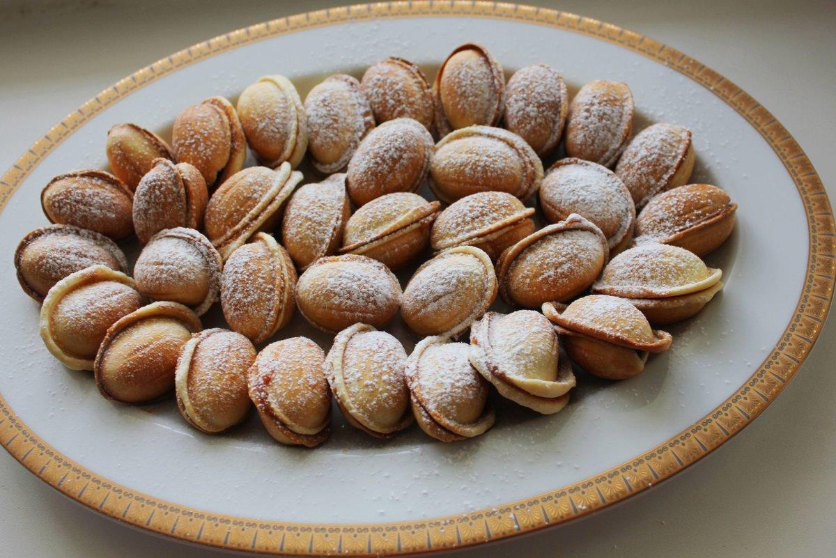 хрустящие орешки со сгущенкой рецепт с фото приготовление