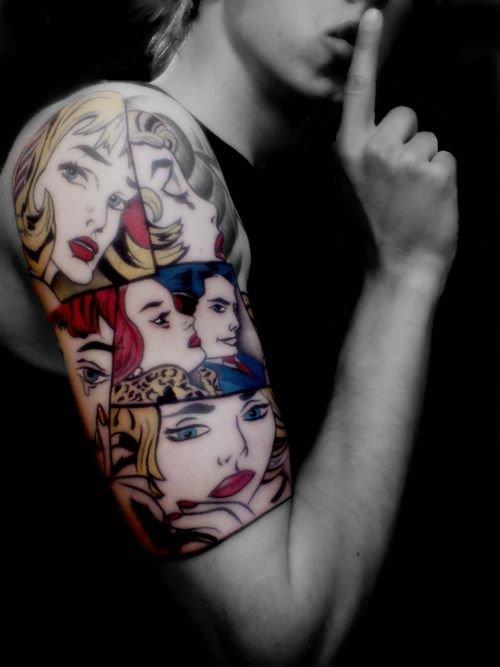 pop art tattoo tumblr - 500×667
