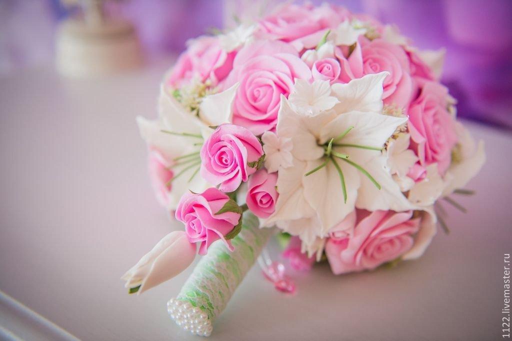 Букеты, букет для невесты из роз с лилиями