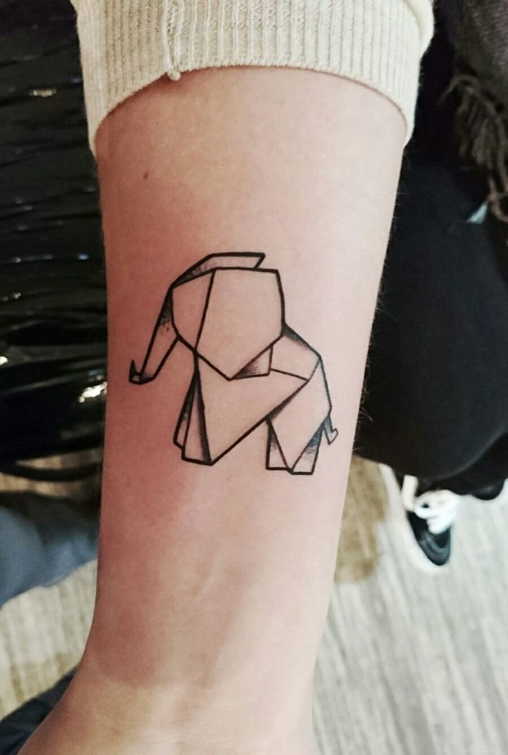 Koala Origami Tattoo My First Elephant With Blue Lotus Flower Minimalist 15