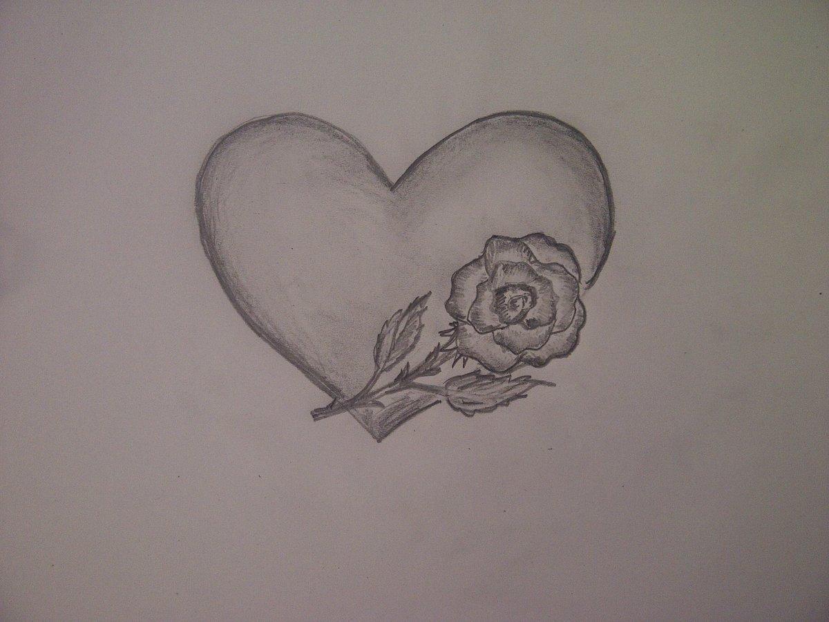 Сердечко картинки красивые карандашом, можно