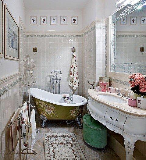 Легкий и элегантный стиль прованс превратит ванную комнату в уютный и комфортный уголок, в котором можно принять водные процедуры в спокойной атмосфере,