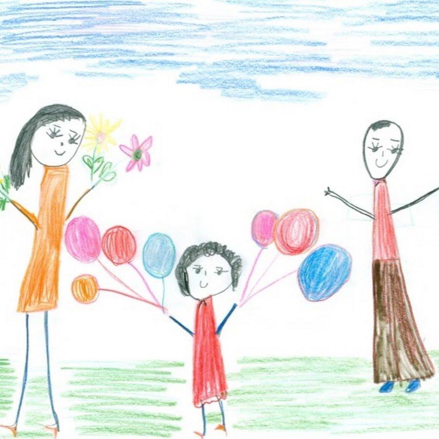 Рисунок своей семьи картинки так