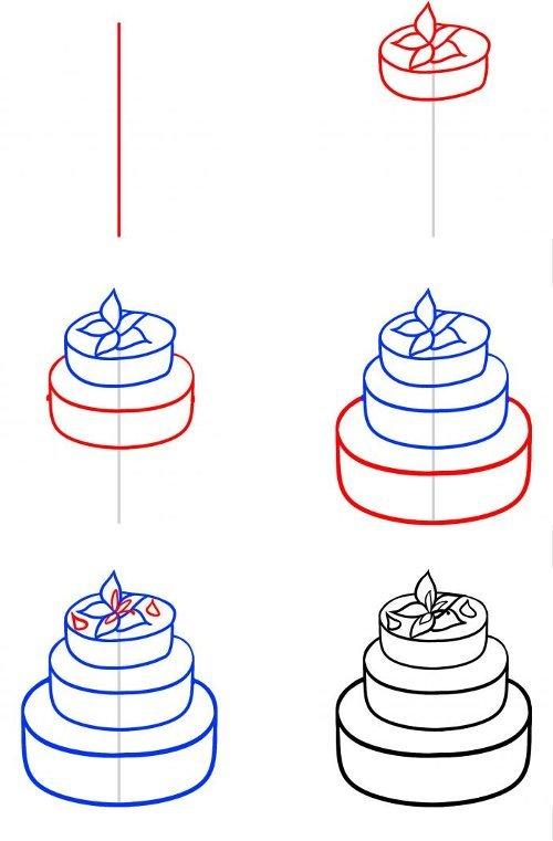 готовили картинки как нарисовать торт карандашом поэтапно или мессенджерах обязательно