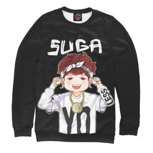 Женский свитшот 3D BTS Suga