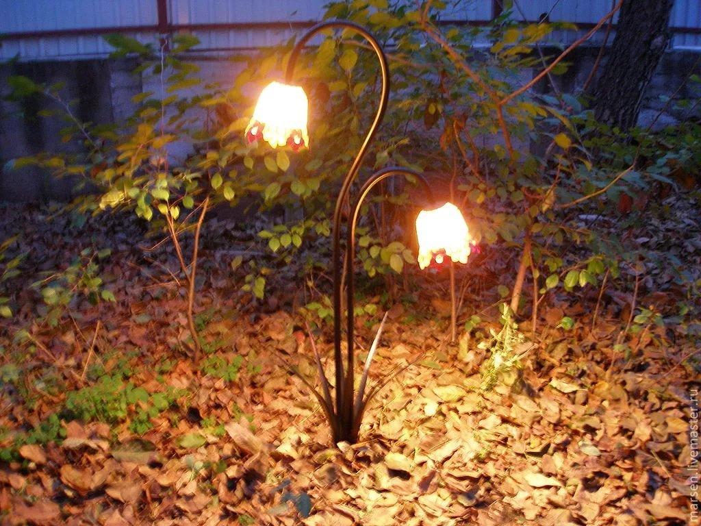 садовые фонари своими руками фото вулканы