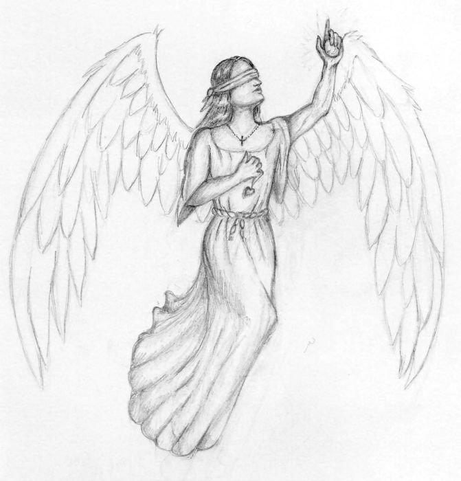 для вегетарианцев, картинки карандашом ангелы как нарисовать мною