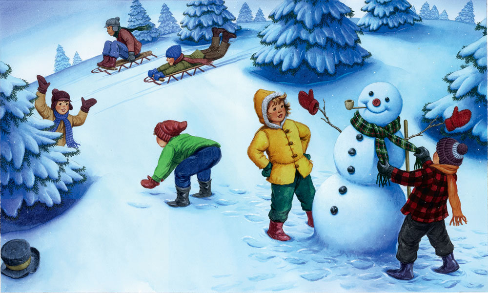 Игры детей зимой картинки