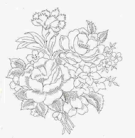 Фото цветы букеты нарисованные карандашом