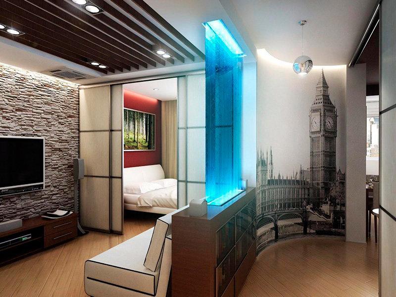 оформление однокомнатной квартиры в картинках странно