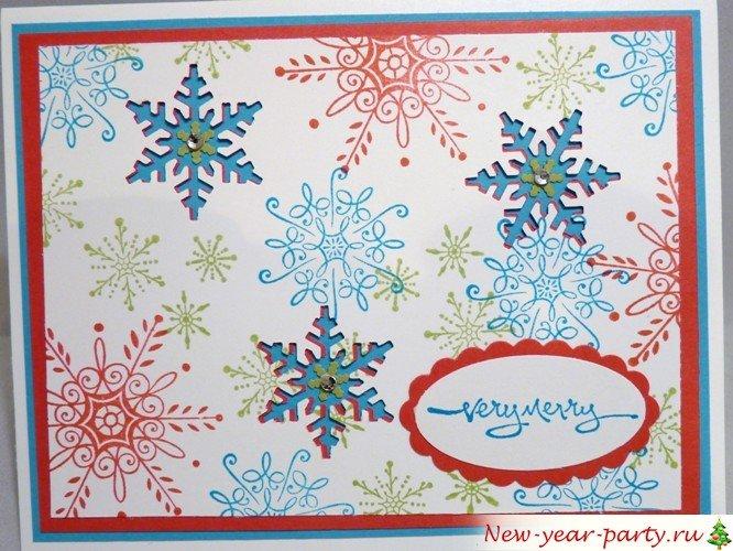 Снежинки открытка скрапбукинг, месяцев близняшкам