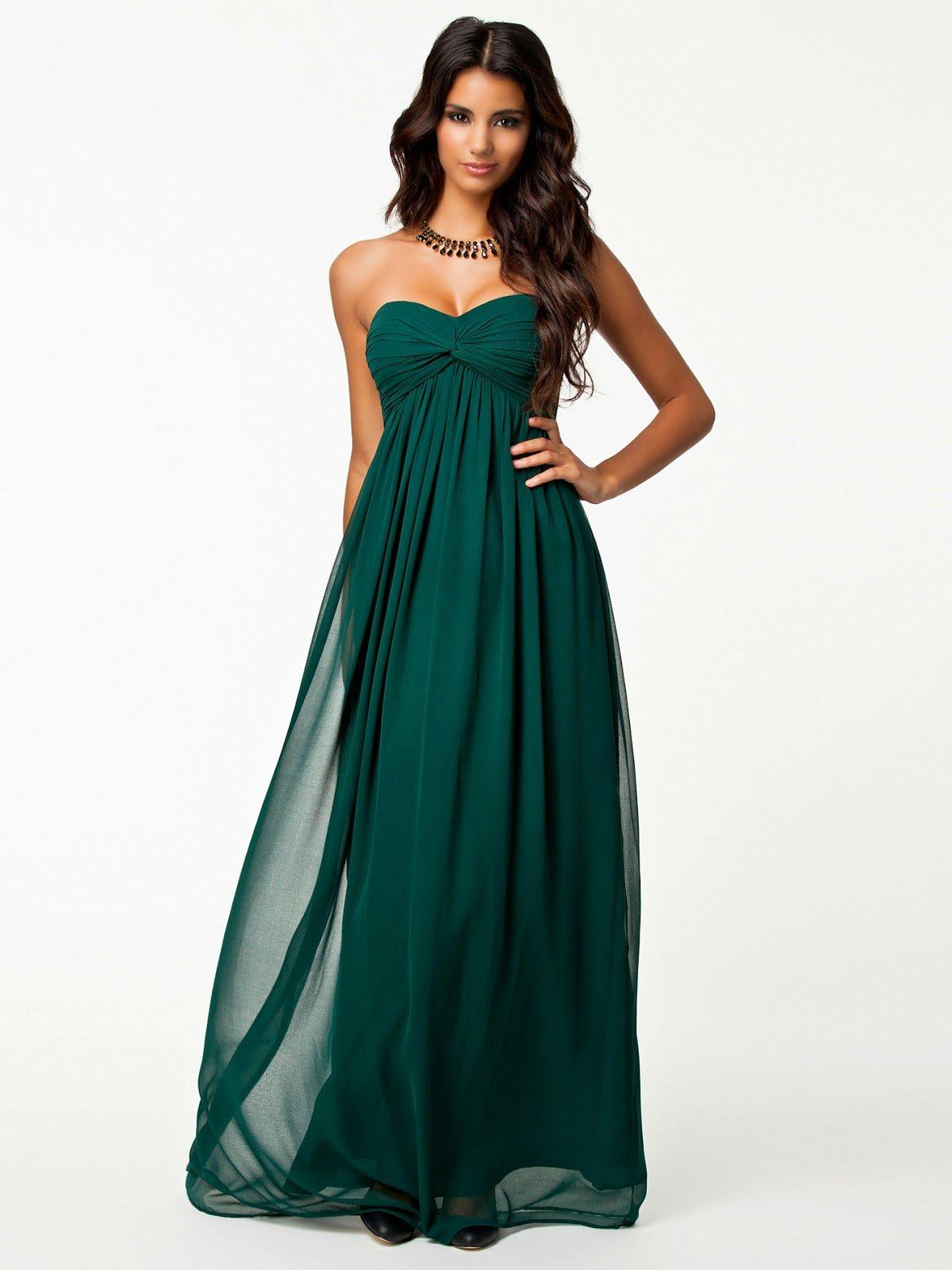 49a6667375f Темно-зеленое платье без бретелей А-силуэта » — карточка ...