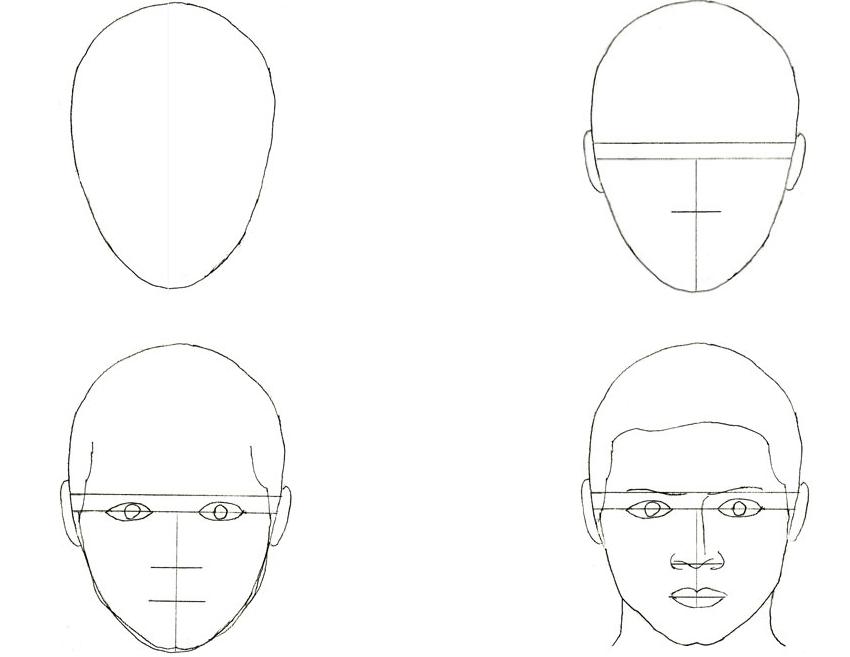 дополнительных рисунки лица людей поэтапно для начинающих смерти достаточно