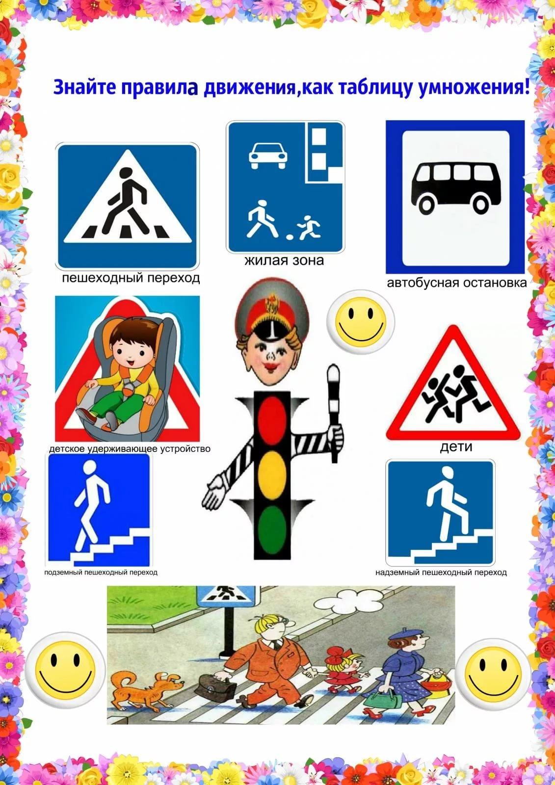 Знаки пдд для детей дошкольного возраста в картинках