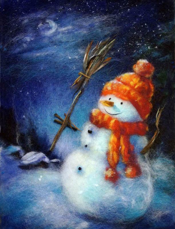 Благовещенье, открытка пастелью на новый год