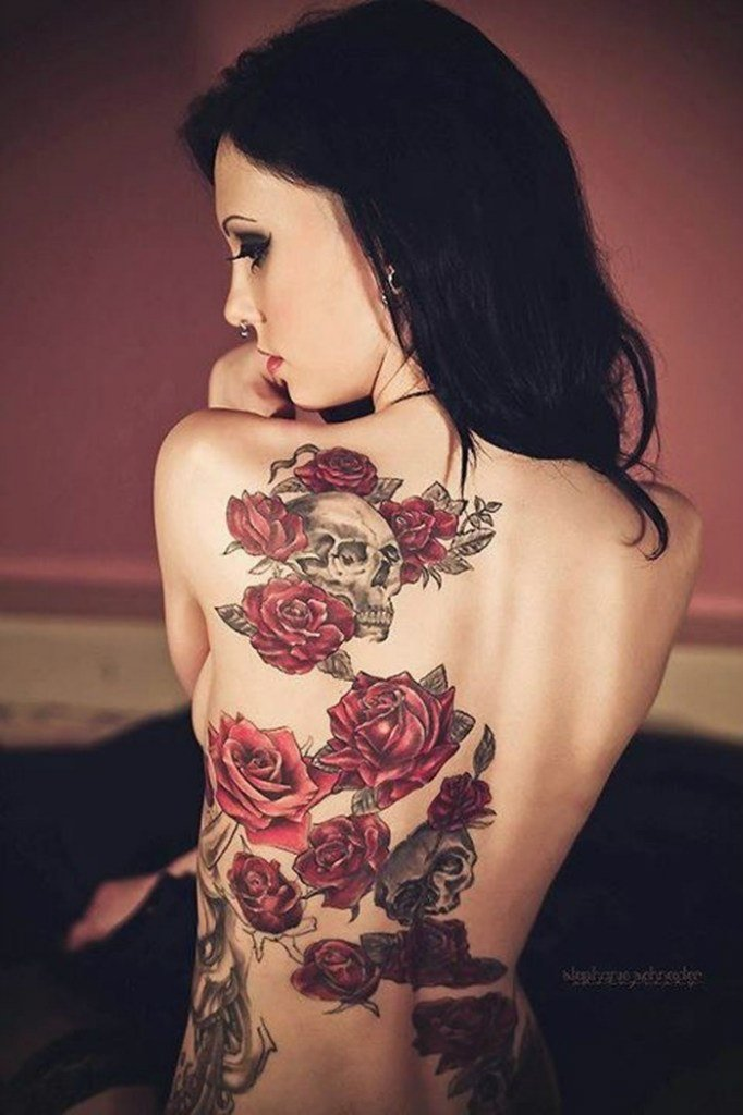 Tattoo on back girl, sexy photos of parvati milton boobs