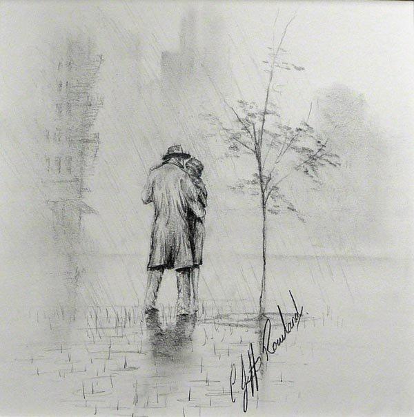 если рисунок осень дождь карандашом этом случае