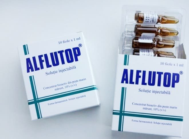Курс лечения лекарством Алфлутоп уколами 2 мл для суставов при ...
