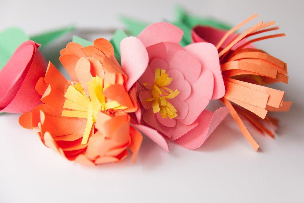 Поздравления юбилеем, картинка цветы своими руками из бумаги