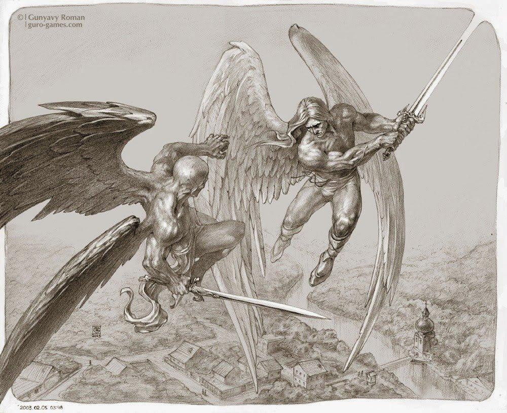 сражающиеся ангелы картинки