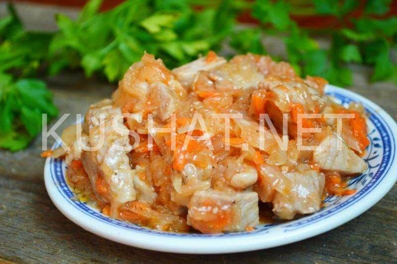 Тушеная квашеная капуста с мясом рецепт классический