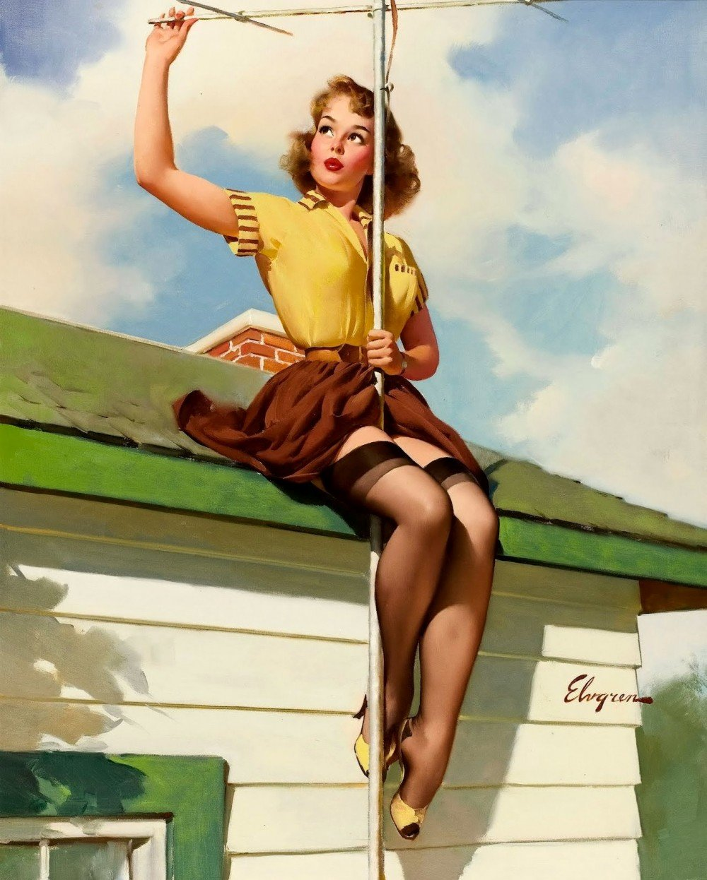 Февраля только, картинки девушек 50 х годов
